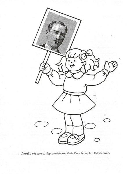 2012 10 Kasım Atatürk Boyama Sayfası