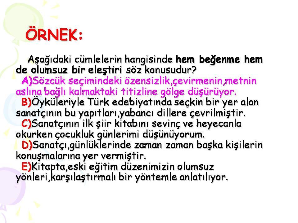 Sınıf türkçe varsayım ile ilgili test sorusu çözümü gösterim