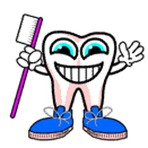 Ağız ve diş sağlığı haftası diş fırçası ve diş resmi
